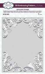Sue Wilson Designs - 3D Embossing Folder - Opulent Frame (5.75