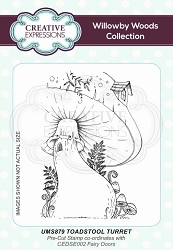 Creative Expressions - Willowby Woods Collection - Toadstool Turret Cling Stamp