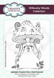 Creative Expressions - Willowby Woods Collection - Toadstool Penthouse Cling Stamp