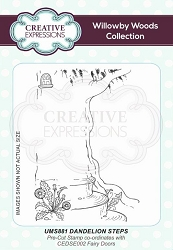 Creative Expressions - Willowby Woods Collection - Dandelion Steps Cling Stamp