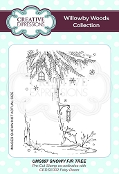 Creative Expressions - Willowby Woods Collection - Snowy Fir Tree Cling Stamp