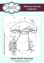 Creative Expressions - Willowby Woods Collection - Winter Toadstool Cling Stamp