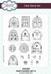 Creative Expressions - Willowby Woods Collection - Fairy Doors Set A Clear Stamps