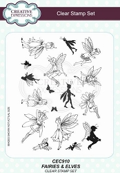 Creative Expressions - Willowby Woods Collection - Fairies & Elves Clear Stamps