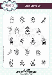 Creative Expressions - Willowby Woods Collection - Secret Residents Clear Stamps