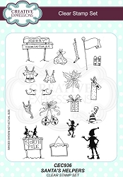 Creative Expressions - Willowby Woods Collection - Santa's Helpers Clear Stamps