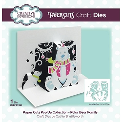 Creative Expressions - Die - Paper Cuts Polar Bear Family Pop Up