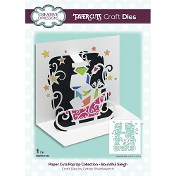 Creative Expressions - Die - Paper Cuts Bountiful Sleigh Pop Up