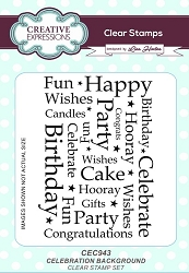 Creative Expressions - Clear Stamp - Celebration Background by Lisa Horton
