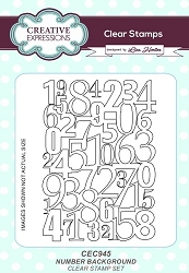 Creative Expressions - Clear Stamp - Number Background by Lisa Horton