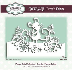 Creative Expressions - Die - Paper Cuts Collection Garden Mouse Edger