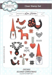 Creative Expressions - Clear Stamp - Scandi Christmas by Lisa Horton