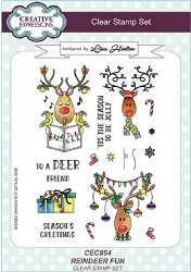 Creative Expressions - Clear Stamp - Reindeer Fun by Lisa Horton