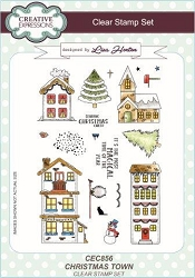 Creative Expressions - Clear Stamp - Christmas Town by Lisa Horton