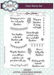 Creative Expressions - Clear Stamp - Joyful Christmas Wishes by Lisa Horton