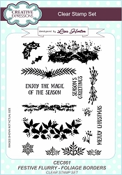 Creative Expressions - Clear Stamp - Festive Flurry Foliage Borders by Lisa Horton