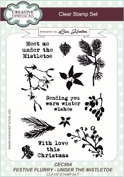 Creative Expressions - Clear Stamp - Festive Flurry Under the Mistletoe by Lisa Horton