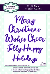 Creative Expressions - Die - Stylish Script Collection by Lisa Horton - Christmas Wishes
