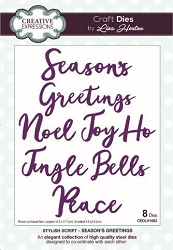 Creative Expressions - Die - Stylish Script Collection by Lisa Horton - Season's Greetings