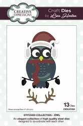 Creative Expressions - Die - Stitched Collection by Lisa Horton - Owl