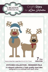 Creative Expressions - Die - Stitched Collection by Lisa Horton - Reindeer Pals