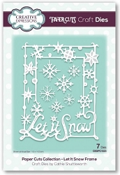 Creative Expressions - Die - Paper Cuts Collection Let it Snow Frame