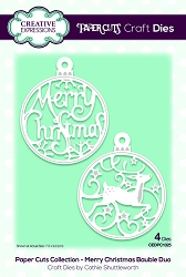 Creative Expressions - Die - Paper Cuts Collection Merry Christmas Bauble Duo