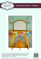 Creative Expressions - Pop-Ems 3D Chipboard Scene - Fireplace