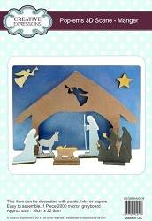 Creative Expressions - Pop-Ems 3D Chipboard Scene - Manger