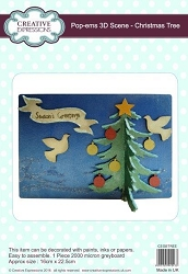 Creative Expressions - Pop-Ems 3D Chipboard Scene - Christmas Tree