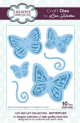 Creative Expressions - Die - Cut and Lift Collection by Lisa Horton - Butterflies