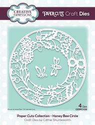 Creative Expressions - Die - Paper Cuts Collection Honey Bee Circle
