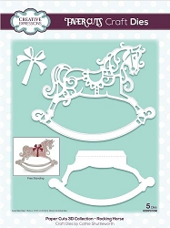 Creative Expressions - Die - Paper Cuts Collection 3D Rocking Horse