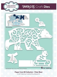 Creative Expressions - Die - Paper Cuts Collection 3D Polar Bear