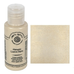 Cosmic Shimmer Metallic Lustre Paint - Sunlight Cream - by Creative Expressions