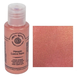 Cosmic Shimmer Metallic Lustre Paint - Coral - by Creative Expressions