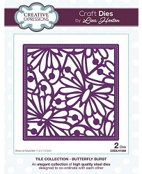 Creative Expressions - Die - Tile Collection Butterfly Burst by Lisa Horton