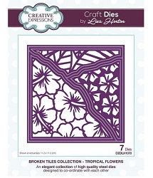 Creative Expressions - Die - Broken Tiles Collection Tropical Flowers by Lisa Horton