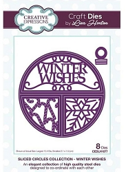 Creative Expressions - Die - Sliced Circles Collection Winter Wishes by Lisa Horton
