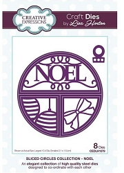 Creative Expressions - Die - Sliced Circles Collection Noel by Lisa Horton