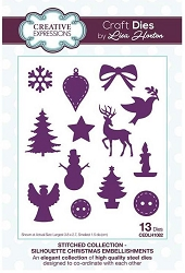 Creative Expressions - Die - Stitched Collection Silhouette Christmas Embellishments by Lisa Horton