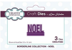Creative Expressions - Die - Borderline Collection Noel by Lisa Horton