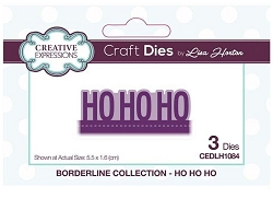 Creative Expressions - Die - Borderline Collection Ho Ho Ho by Lisa Horton