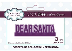Creative Expressions - Die - Borderline Collection Dear Santa by Lisa Horton