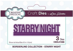 Creative Expressions - Die - Borderline Collection Starry Night by Lisa Horton