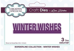 Creative Expressions - Die - Borderline Collection Winter Wishes by Lisa Horton