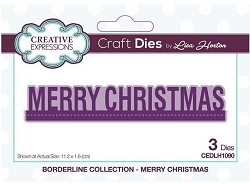 Creative Expressions - Die - Borderline Collection Merry Christmas by Lisa Horton