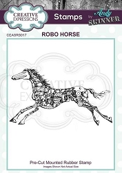 Creative Expressions - Andy Skinner Robo Horse Cling Stamp
