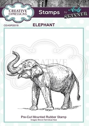 Creative Expressions - Andy Skinner Elephant Cling Stamp