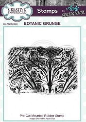 Creative Expressions - Andy Skinner Botanic Grunge Cling Stamp